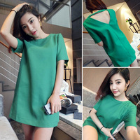 New 2014 elegant women dress fashion female summer dress short-sleeve slim fresh sweet dress womens