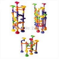 58Pcs Children Kids Educational  DIY Blocks Track Marble Ball Construction Toy Free Shipping