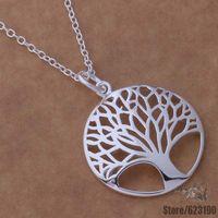 AN677 925 sterling silver Necklace 925 silver fashion jewelry pendant tree /btcakkja dfoalwva