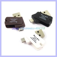 2 in 1 Micro TF SD Card Reader and OTG Card Reader For Samsung Smart phones