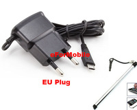 EU Plug Adapter Mobile Phone Charger AC Wall Charger  Travel Charger +Stylus Pen For LG Optimus L5 E610 E612