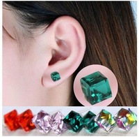 Free shipping The new Water Cube Crystal Earrings ES0038