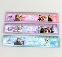 10 pieces15cm Plastic Rulers Frozen Ruler Straight Ruler Anna Elsa Students Rulers