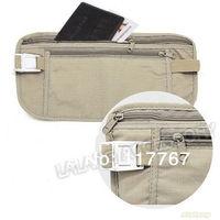 2014 Safe Travel Money Passport Waist Packs Security Waist Belt Strap Holders Gtay Nylon Wallets Bags Purses 2pcs/lot  ej640245