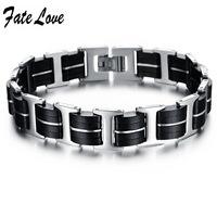 Punk Man Jewelry Genuine Silicone bracelet ,new style ,big width 13mm ,Hot style,top quality   831