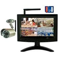 "DIGITAL WIRELESS NETWORK WIFI P2P QUAD 7""LCD SD DVR CCTV SECURITY CAMERA SYSTEM"