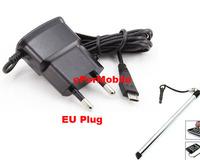 Travel Charger Mobile Phone Charger EU Plug Adapter Mobile Phone Charger+Stylus Pen For LG Optimus L5 E610 E612