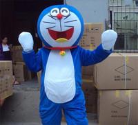 Doraemon cat cartoon Mascot Costume Fancy Dress adult one size suit, free shipping