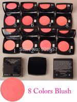 6 Pcs/Lot Blusher Brand MC Makeup , rihanna Powder blush 15g, With Brushes & mirrors ,  free shipping