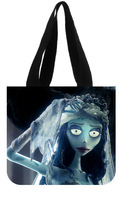 Custom Reusable Canvas Shopping Bag (2 Sides) - Corpse Bride