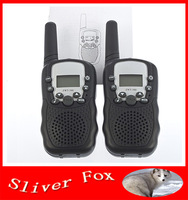 New Generation Radio Walkie Talkie T388 PMR/FRS Radio Black Color VOX hand-free Talkie Tadios w/ led Flashlight