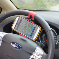 Car Steering Wheel Universal Cradle Car Clip Holder For Apple iPhone 5S 5C 5 4S 4G 3/Samsung Galaxy S4 S3 S2 Mini