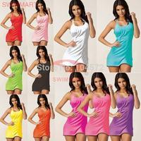 10PCS/LOT Sexy Halter Bikini Beach Dress Multicolored Holiday Dress 11Colors VB002