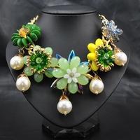 New 2014 Wholesale Fashion Women  Engagement jeweley bride jewelry 2014 new Cute Pendant statement necklace