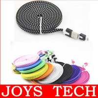 3M 10FT Braided Wire Micro USB Cable Sync Nylon Woven 5pin V8 Charger Cords for Samsung Galaxy S3 S4 I9500 S5 for Blackberry