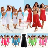 10PCS/LOT Fashion Elegant  Chest Wrapped Beach Dress Multi-way 11Colors VB004
