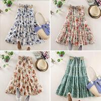 Long Skirt Maxi saia Longa Skirts Womens Saia Female Tulle Fashion Print Saias Femininas Spring New 2014 Summer Flora Skirt