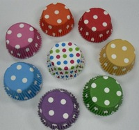 300pcs mixed polka dot mini size paper cupcake liner,muffin case, cake case cake tool party decoration 35*20mm