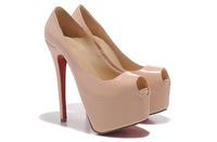 Free shipping 16cm women high heel platform pumps peep toe heels dropshipping evening party shoes wedding high heel shoes