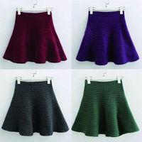 Skirts Womens Black Saias Pleated Striiped Female Fashion White Chiffon Skirt Spring New 2014 Summer Saias Femininas Shorts Saia
