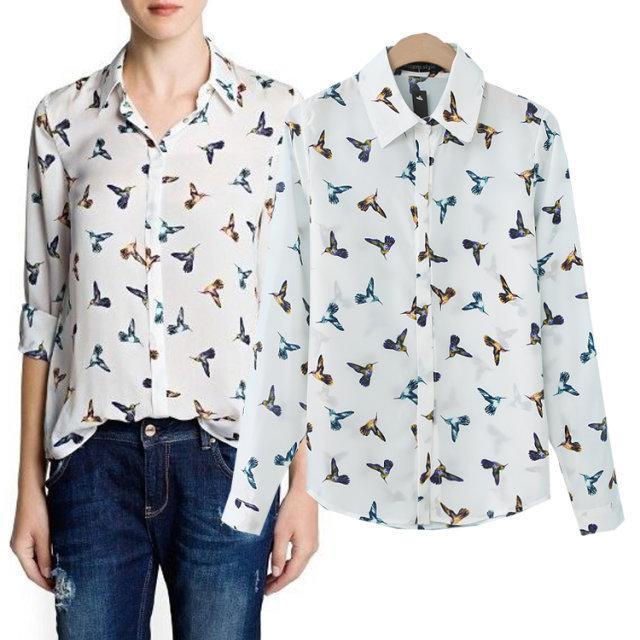 Блузка С Птицами В Волгограде
