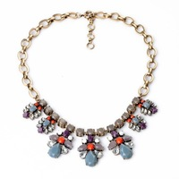 2014 Blue Semi-precious Stone Choker Necklace Design Jewelry JC/SD Min $20(can mix)  Free Shipping