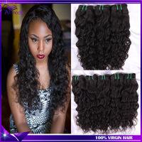 Ms Lula Peruvian Virgin Hair Weaves 4pcs Wet and Wavy Virgin Peruvian Water Wave Natural Black 1b Luvin Hair Products