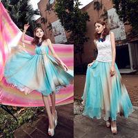 Long Skirts Womens Tops For Women Winter Derss Spring New 2014 Chiffon Skirt Saias Femininas Fashion Skirt Female Skirt Saias