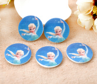 Free shipping !Very popular flat base resin brooch badge FROZEN Aisha DIY decoration accessories MOQ100pcs size:30*30mm
