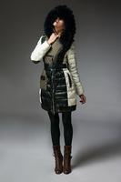 Free shipping EMS !!! new fashion women long down brand jacket ,S-XXL,big size.,fox fur collar ,Cebus apella female clothing