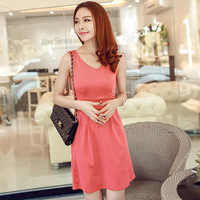 2014 real shot summer women's new sleeveless vest dress Korean version of large size s~ xxl women dress