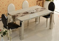 Marble rectangle dining table for home