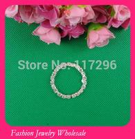 Free Shipping Wholesales Round Wedding Invitation Ribbon Rhinestone Buckle