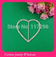 Wholesale Fashion Small Silver Square Rhinestone Buckles for Wedding Invitations Free Shipping
