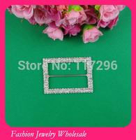 Wholesales Rectangle Rhinestone Buckles For Wedding Invitations Ribbon Free Shipping
