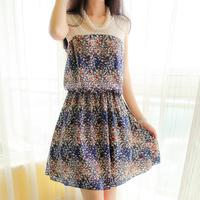 new 2014 hollow out women summer chiffon dress sarafan flower floral dress green mini dress topshop puff jupe korean dress