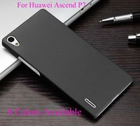 Free Shipping 1Pcs Matte Frosted Hard Case Skin Cover For Huawei Ascend P7 Mobile Phone ( 8 colors available)
