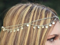 Bohemian Women Circle Drop Head Chain Jewelry Forehead Dance Headpiece Hair Band