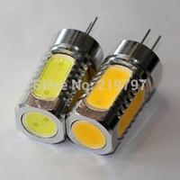 Retail G4 COB 5LEDs 7.5W car door light DC12V car bulb for chandelier Led Bulbs Crystal lights Droplight + 4pcs + China post