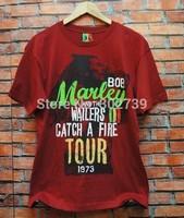 New arrival 2014 bob marley reggae fashion men male O-Neck t-shirt men top openfire/1