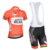 New 2014 Lotto Belisol Short Sleeve Cycling Jersey / Cycling Shorts / High Quality Cycling Clothing Size:S-XXXL Free Shipping