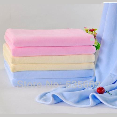 2014 Brand New Baby Boys Girls Bath Body Towel Super Soft Velvet Blanket 3 Color(China (Mainland))