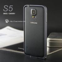 7 Colors No Screw Slim Aluminum Bumper for Samsung Galaxy S5 Metal Bumper