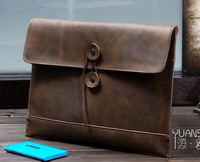 crazy horse envelope high quality messenger bags briefcase portfolio genuine leather danjue jmd laptop videng pasta executiva