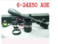 Outdoor Sport Optics  6-24x50AOE Rifle Scope, Illuminated Mil-Dot IR Reticle, 1/4 MOA, 25.4mm Tube