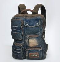 2014 rucksack DENIM Distress fashion schoolbag backpack travel bags mochilas tactical canvas backpack duffel bag sac desigual