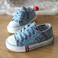 2014 child canvas shoes low shoes male female child single shoes sport shoes 3 colour 25-37