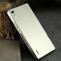 Original Huawei ascend P7 metal case ultra-thin aluminum alloy metal back cover+metal frame for huawei p7 retail box free film