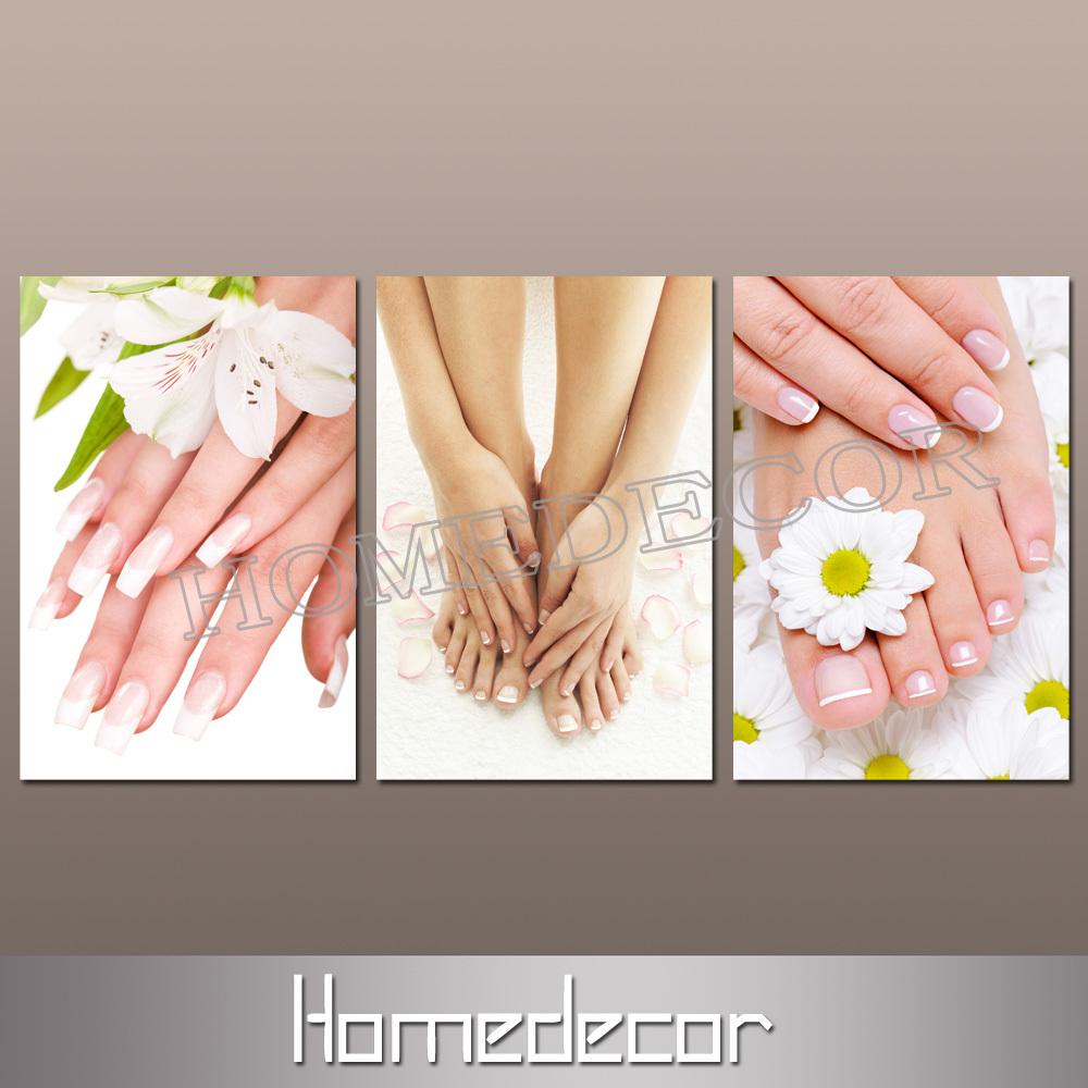 Displaying 14> Images For - Nail Salon Wall Decor...