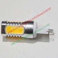 Droplight G9 COB 5 LEDs 7.5W Aluminum Home light G9 mini bulb for chandelier Led Bulbs Crystal lights + 4pcs + Free shipping